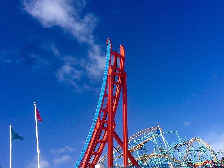 Santa Cruz Boardwalk Roller Coasters  by Gia Marie Houck
