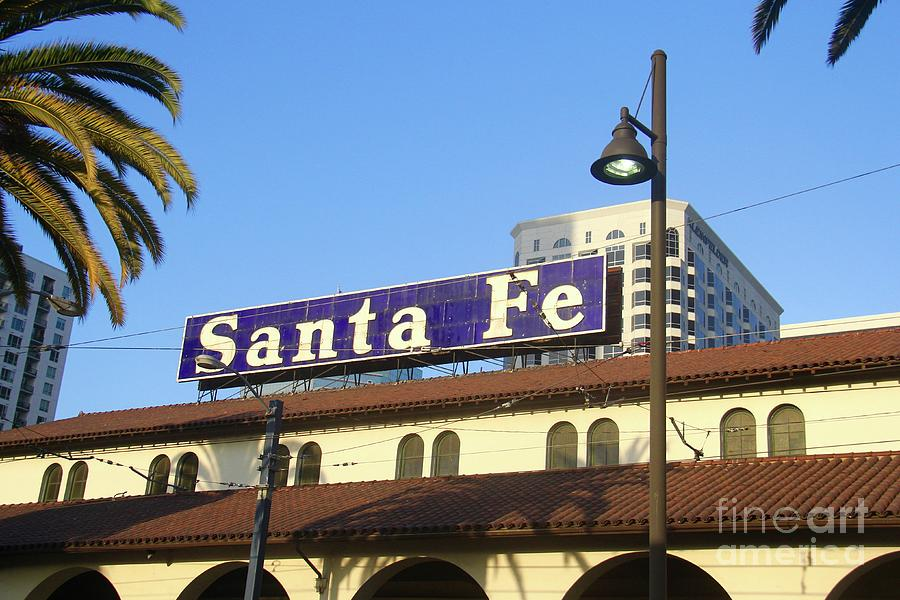 Santa Fe Depot Sign by Suzanne Oesterling