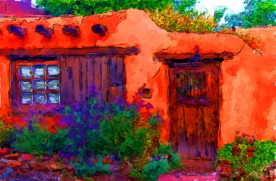 Santa Fe Nm Canyon Road 304 Painting By Wallart Bydoll
