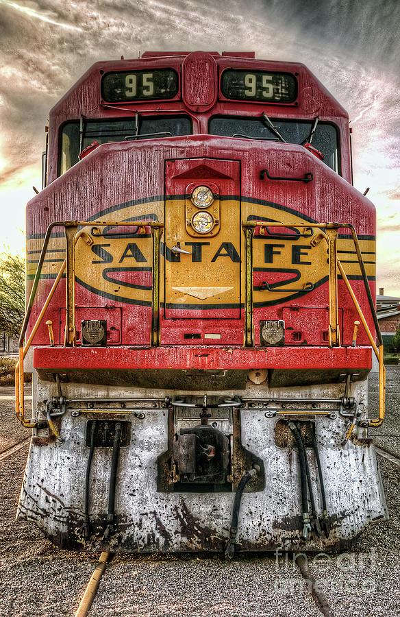 Santa Fe Train Engine by Eddie Yerkish