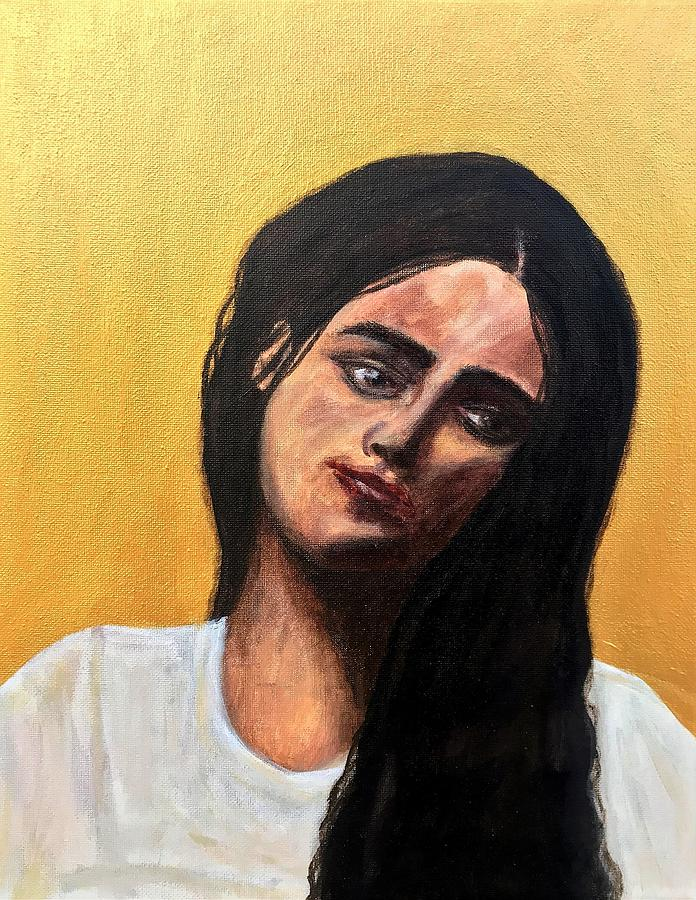 Portrait Painting - Santa Lucia by Mikayla Ruth Koble