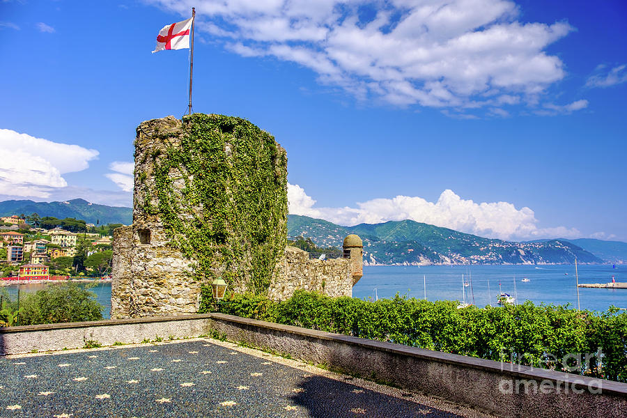 Santa Margherita Ligure Castle Republic Of Genoa Flag Photograph By Luca Lorenzelli