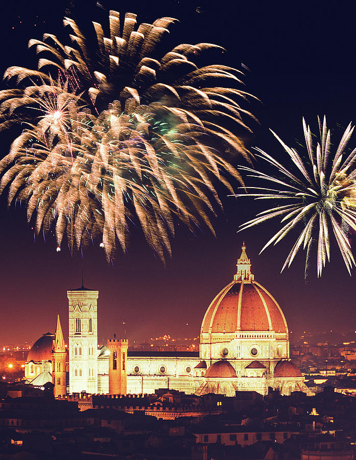 Santa Maria Del Fiore Dome In Florence Photograph by Franckreporter