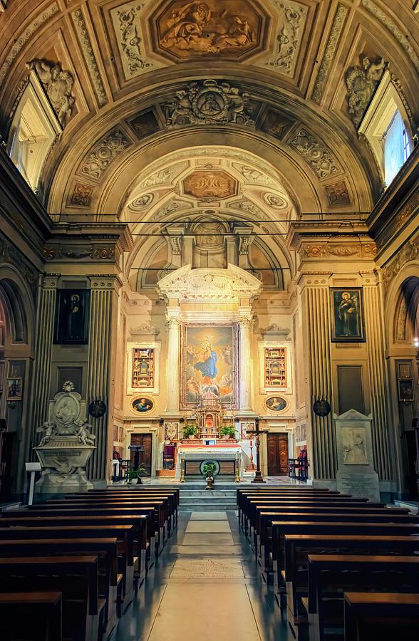 Santa Maria della Concezione Rome Italy by Joan Carroll