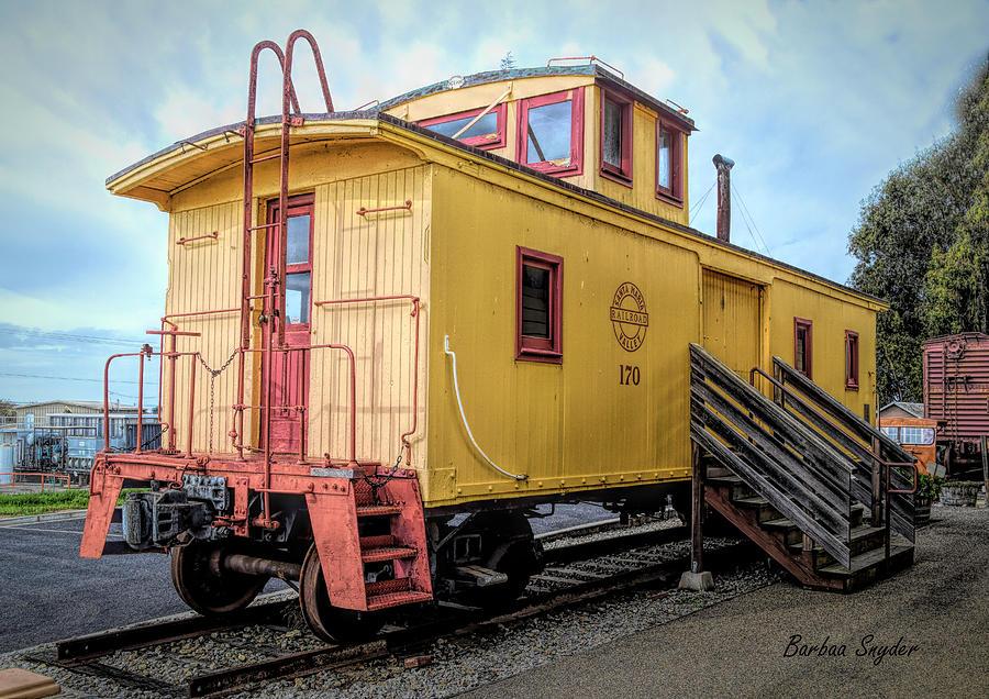 Santa Maria Railroad Caboose Ocean Depot Museum by Barbara Snyder