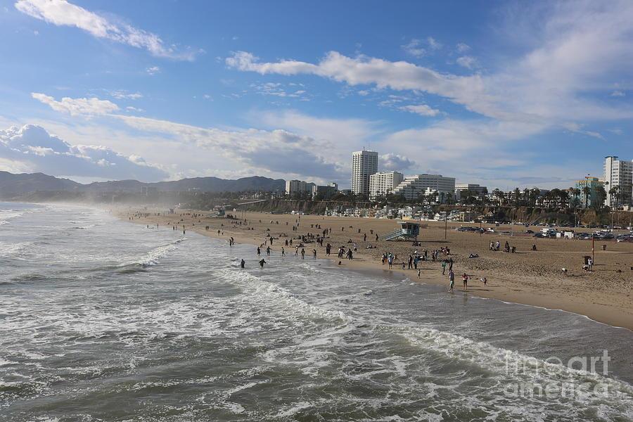 Santa Monica Beach , Santa Monica, California by John Shiron