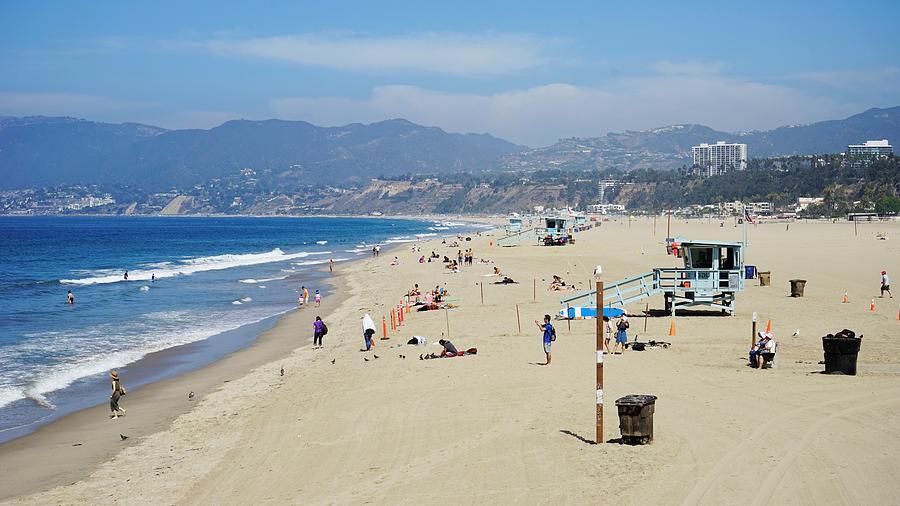 California Digital Art - Santa Monica Beach by Barkley Simpson