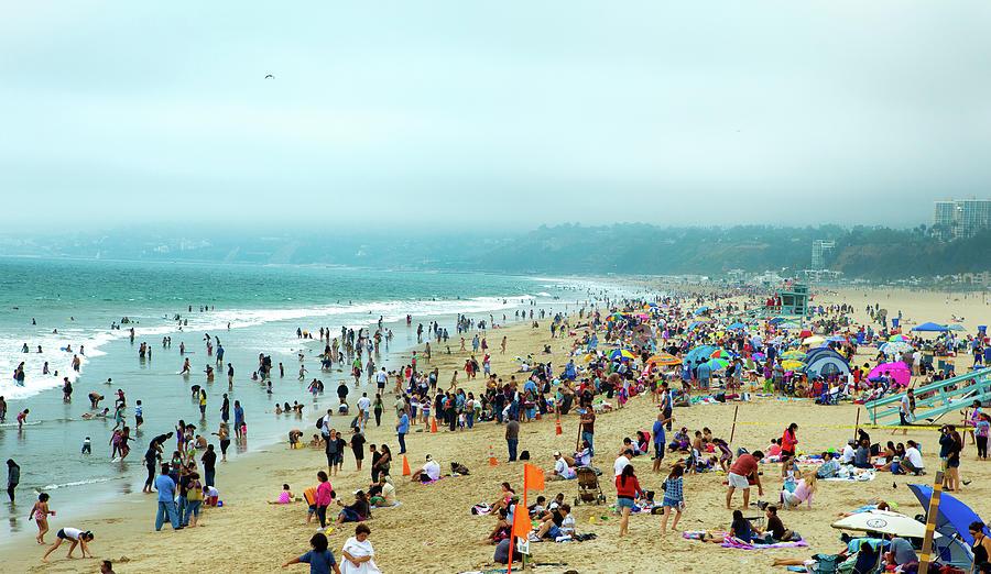 Santa Monica Beach Photograph by Daniel Shapiro