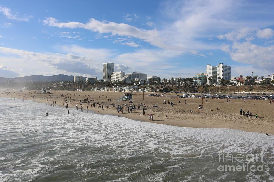 Santa Monica Beach, Santa Monica, California by John Shiron