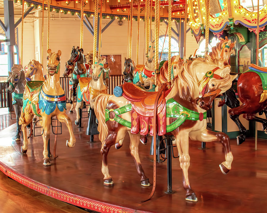 Santa Monica Carousel 2 by Kristia Adams