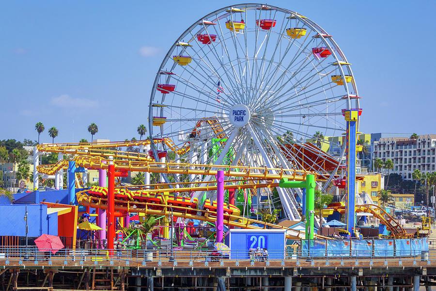 Santa Monica Pier Ferris Wheel by Randy Bayne