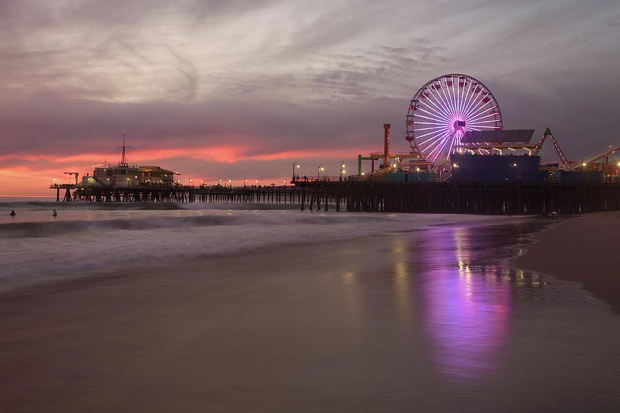 Santa Monica Pier Photograph by Skyhobo