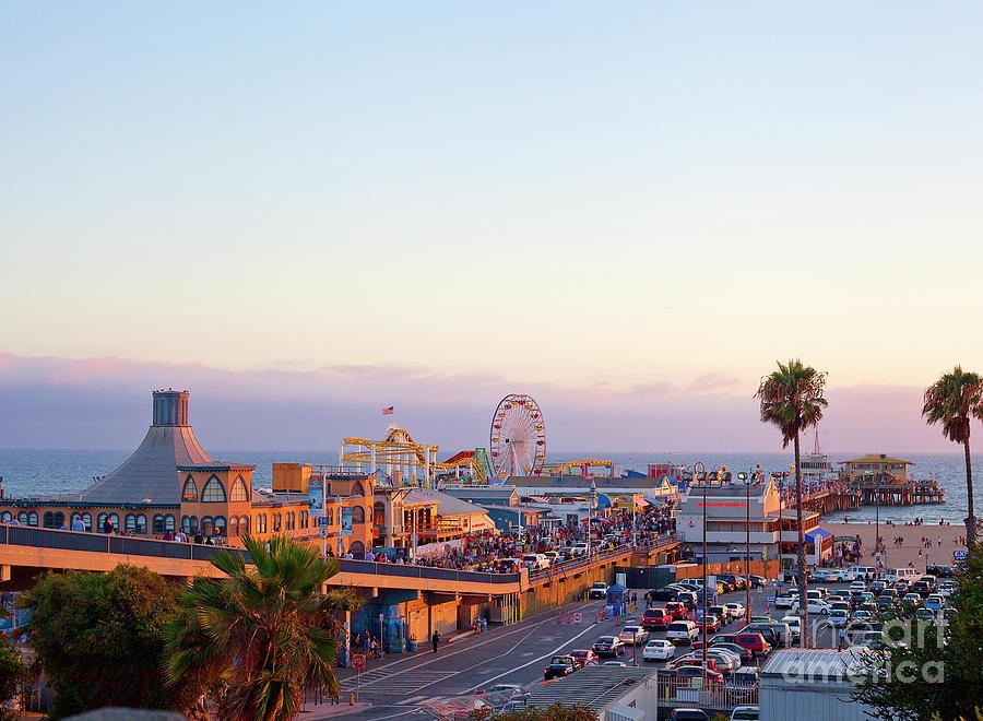Santa Monica Pier Photograph by Stellalevi
