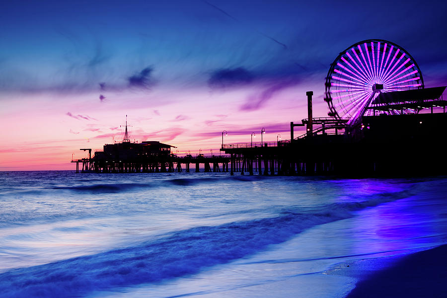 Santa Monica Pier With Ferris Wheel Photograph by Pawel.gaul
