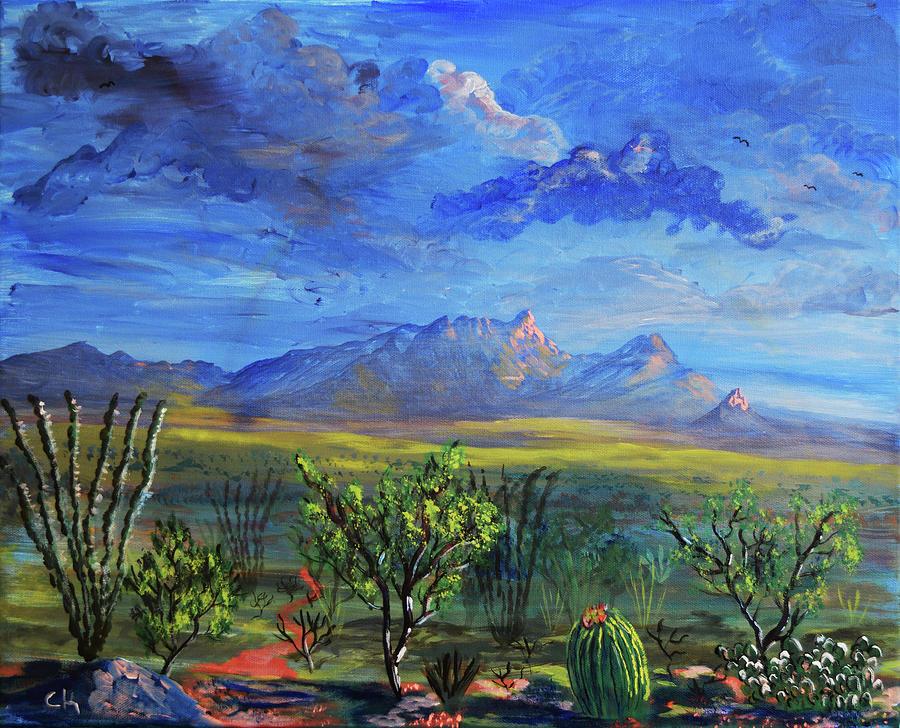 Santa Rita Mountains Last Light by Chance Kafka