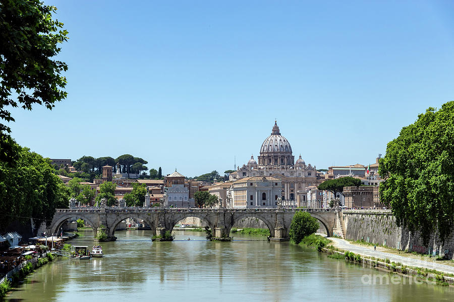 Sant'angelo bridge and St. Peter's Basilica by Ulysse Pixel