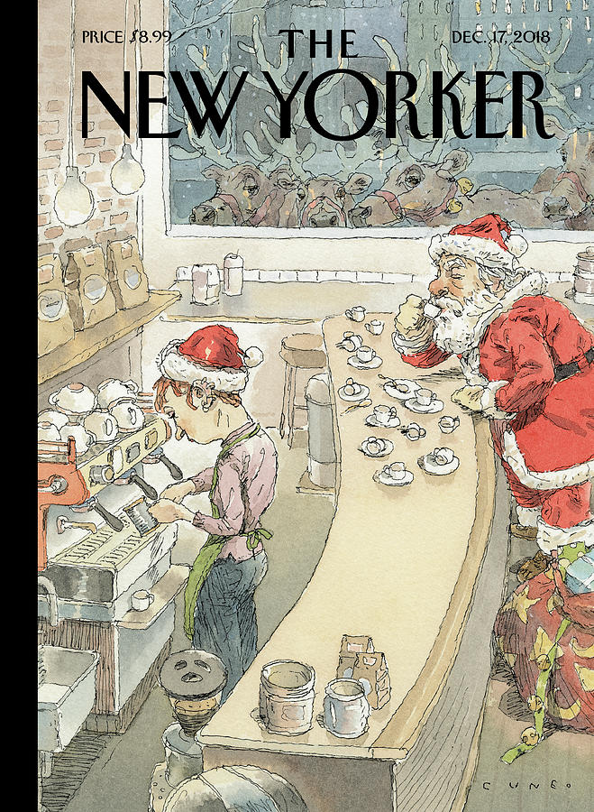 Santas Little Helper Drawing by John Cuneo