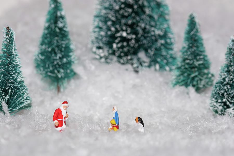 Santa Claus Photograph - Santas Special Visit 1 by Steve Purnell