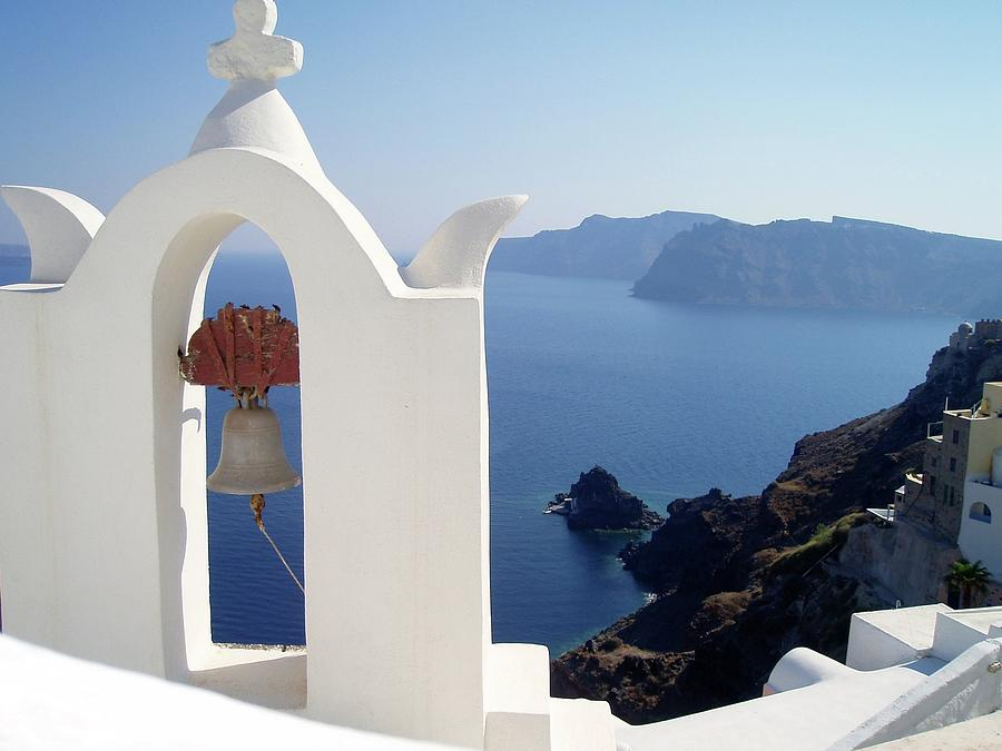 Santorini Bell - Greek Islands Photograph by Bart Dubelaar