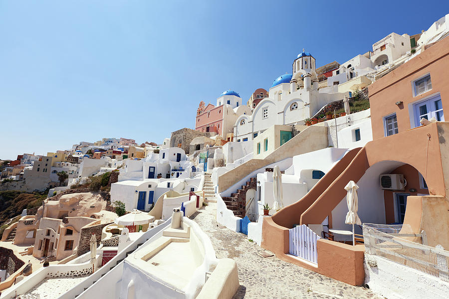 Santorini, Churches And Houses Photograph by Richmatts