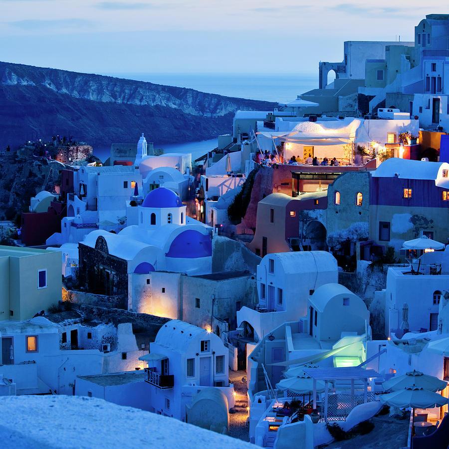 Santorini Oia Village Photograph by Mbbirdy