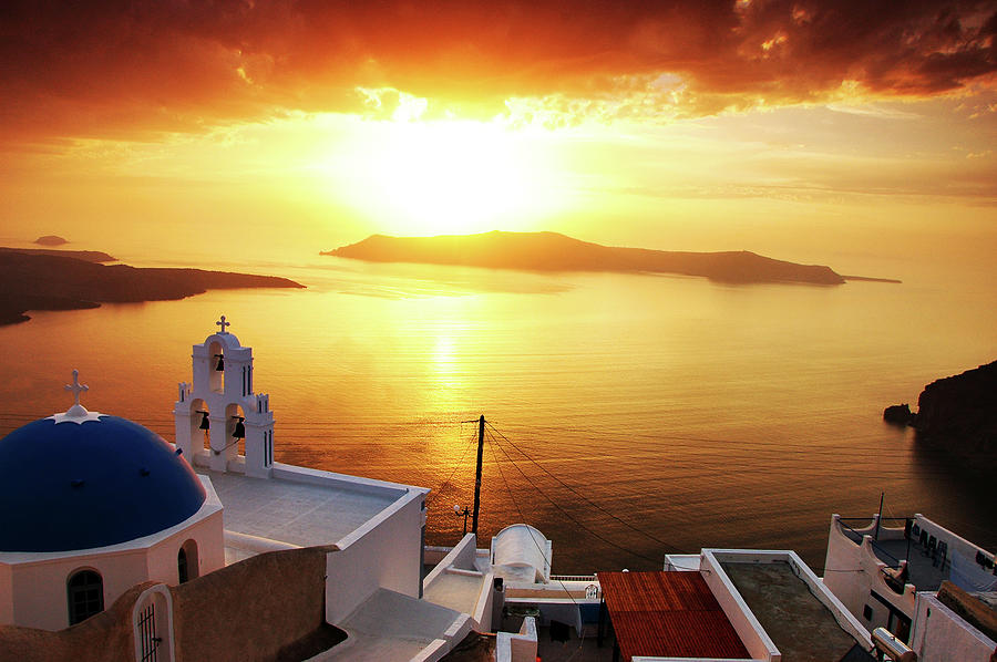 Santorini Sunset Photograph by Easonliao