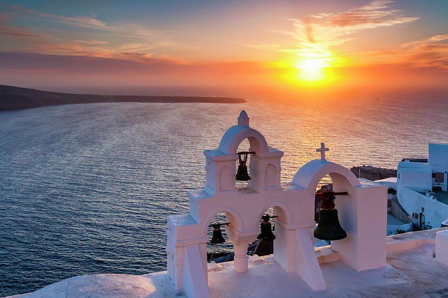 Greece Photograph - Santorini Sunset by Evgeni Dinev