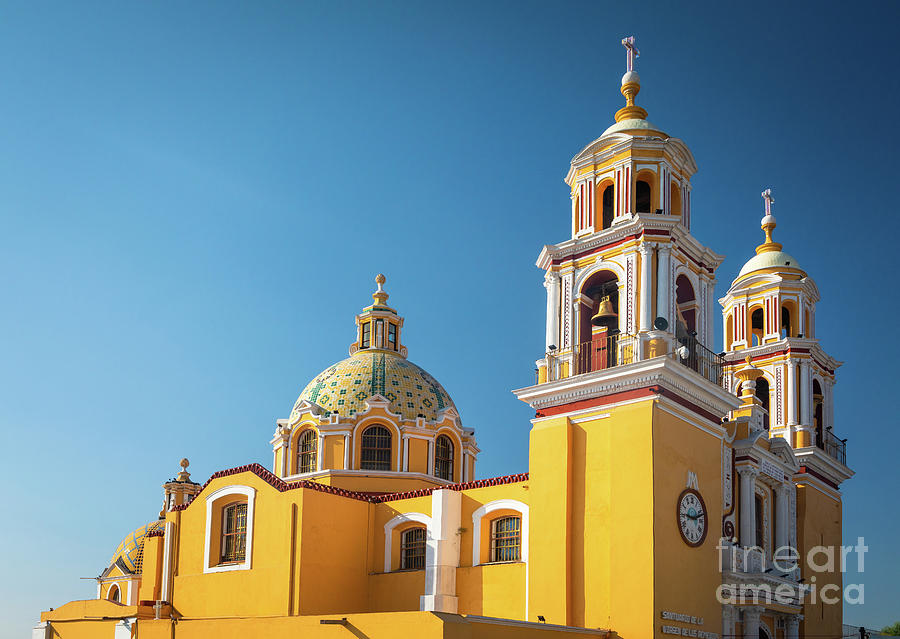 Catholic Photograph - Santuario De Nuestra Senora De Los Remedios by Inge Johnsson