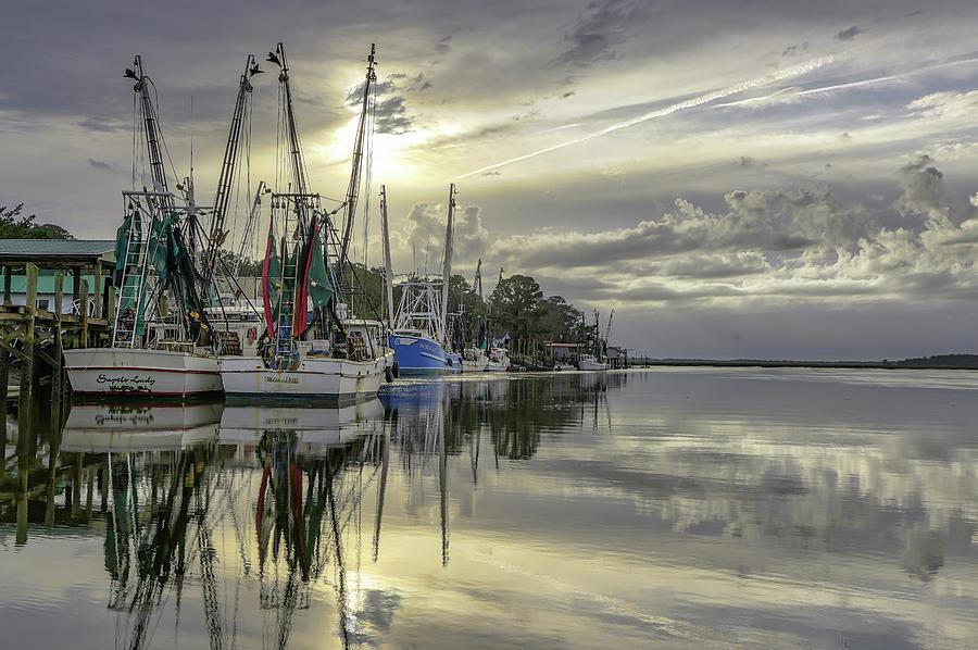 Sapelo Shrimping Fleet by Kenny Nobles