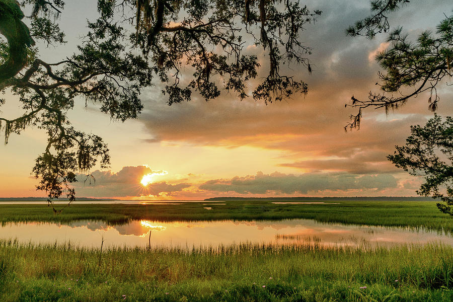 Sapelo Sunrise 14 by Kenny Nobles