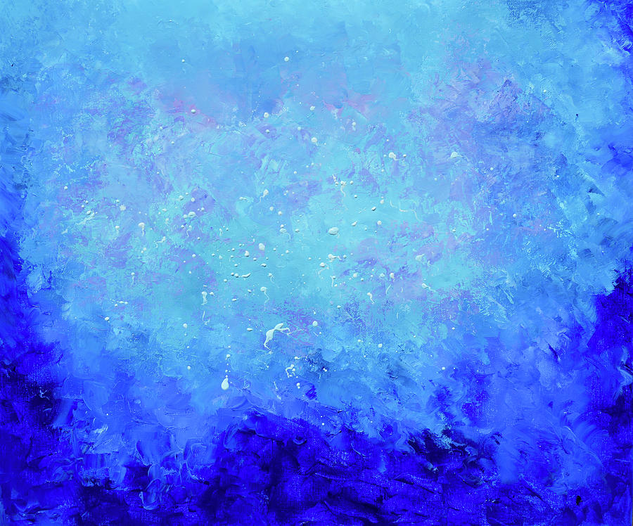 Sapphire Blue Abstract by Jan Matson