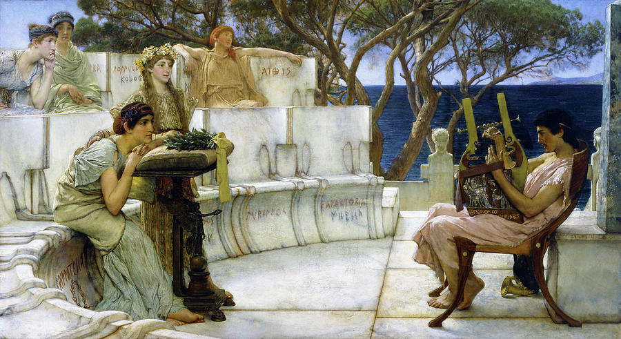Sappho and Alcaeus - Digital Remastered Edition by Lawrence Alma-Tadema