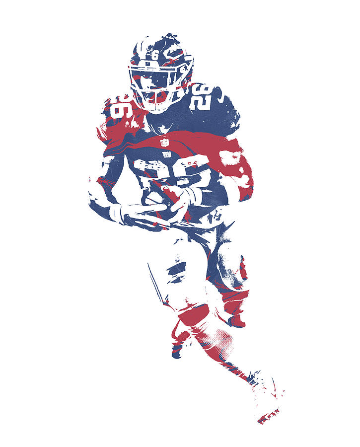 Giants Mixed Media - Saquon Barkley New York Giants Pixel Art 11 by Joe Hamilton