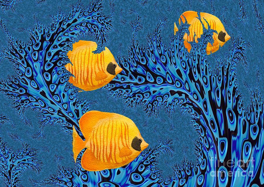 Underwater Digital Art - Sargasso 2 by John Edwards