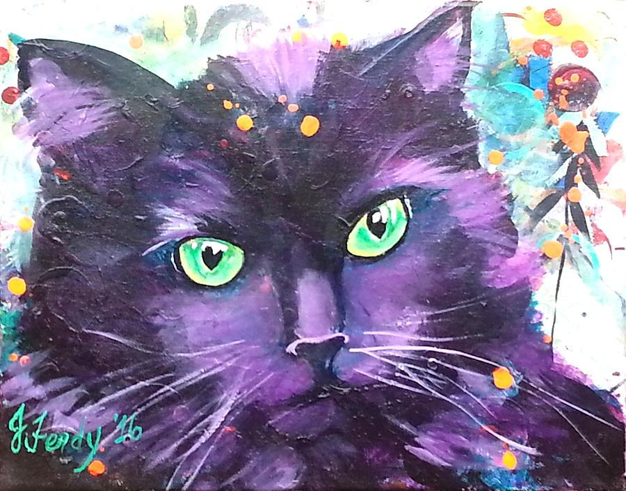 Cats Painting - Sasha by Goddess Rockstar