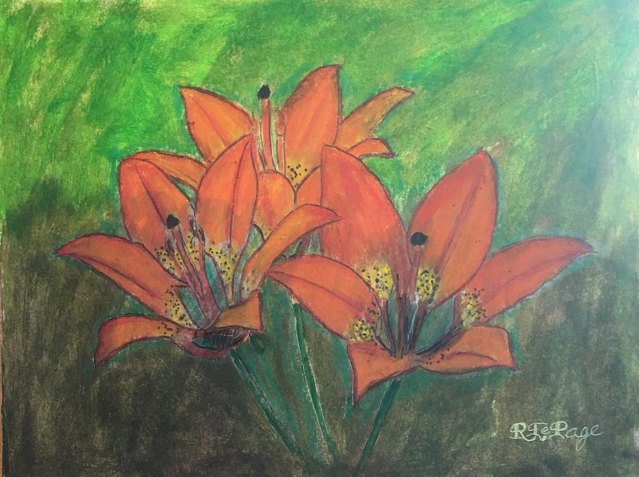 Saskatchewan Western Red Lily by Richard Le Page