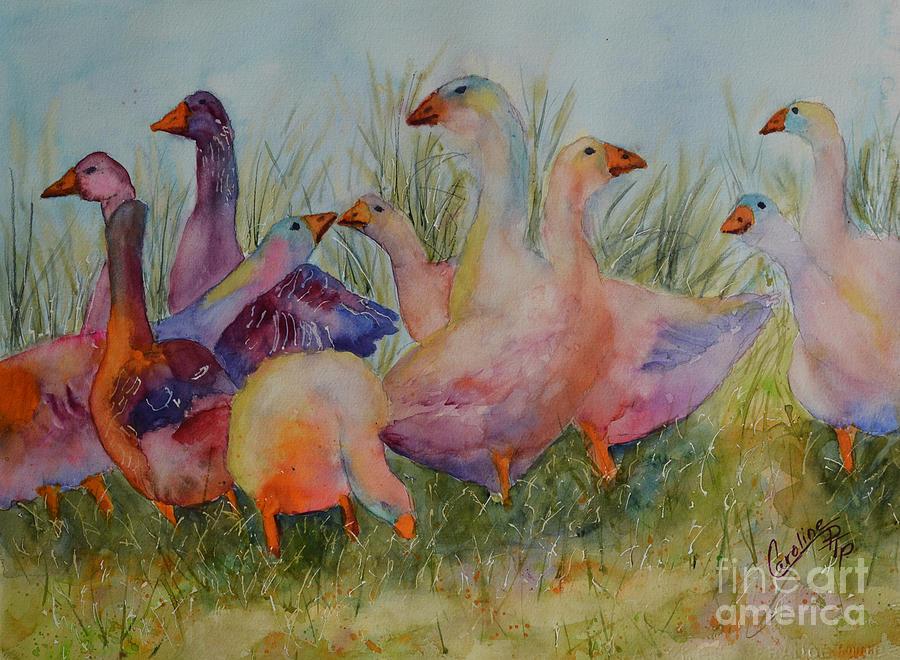 Sassy Geese by Caroline Harris
