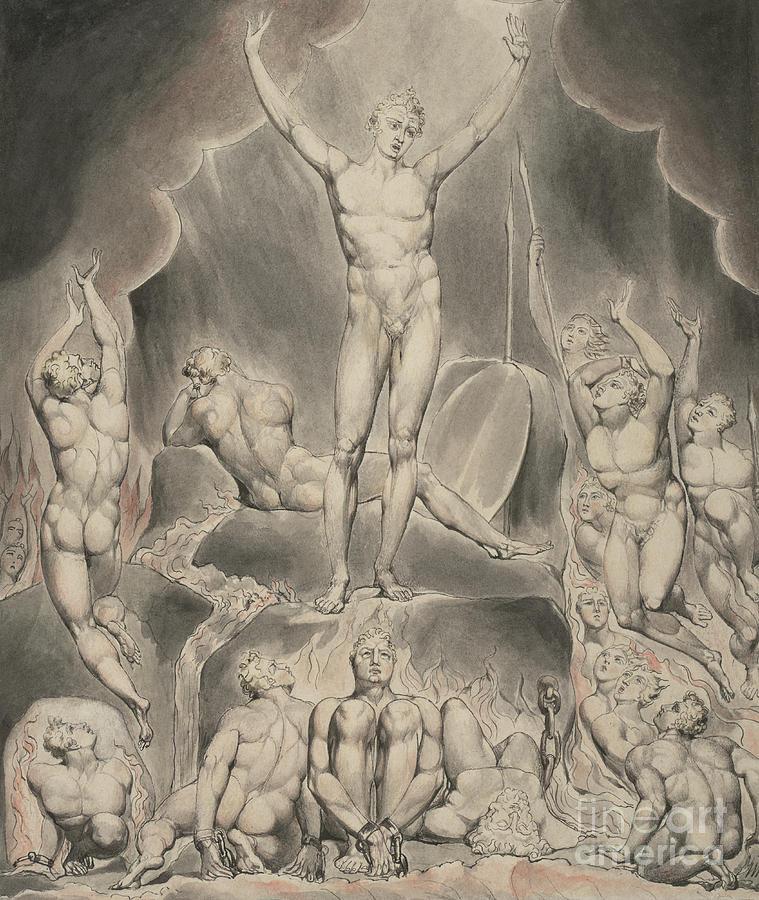 William Painting - Satan Calling Up His Legions by William Blake