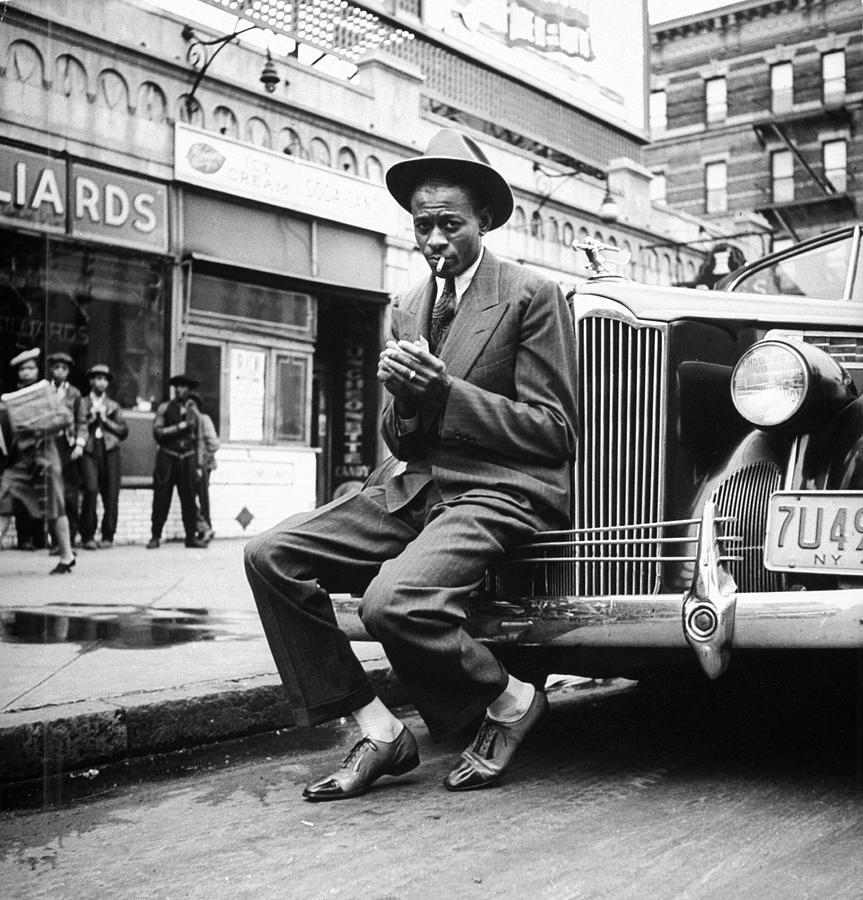 Satchel Paige In Harlem Photograph by George Strock