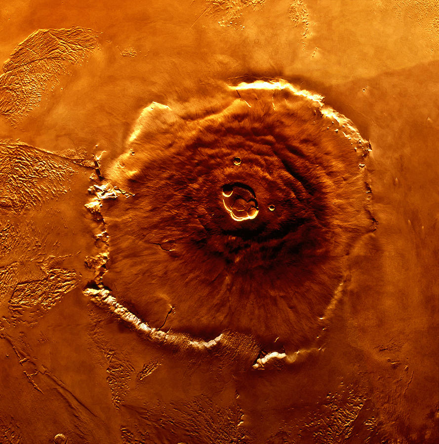 Satellite Image Of Olympus Mons Photograph by World Perspectives