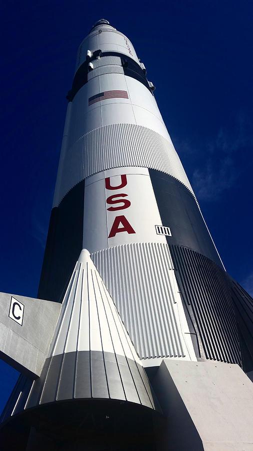 Saturn V Rocket Mixed Media