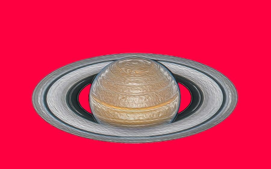 Saturn Digital Art - Saturnian Image 2 by Bruce IORIO