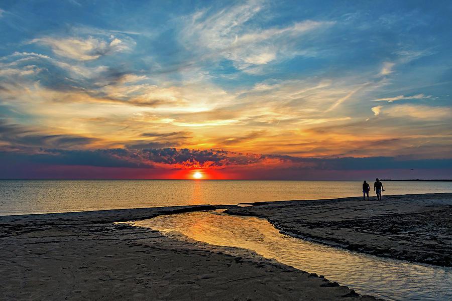 Sauble Beach Sunset - Evening Ritual Photograph