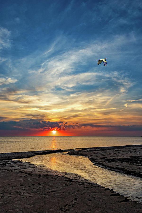 Sauble Beach Sunset - Heading Home Photograph
