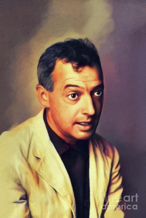 Bellow Painting - Saul Bellow, Literary Legend by Esoterica Art Agency