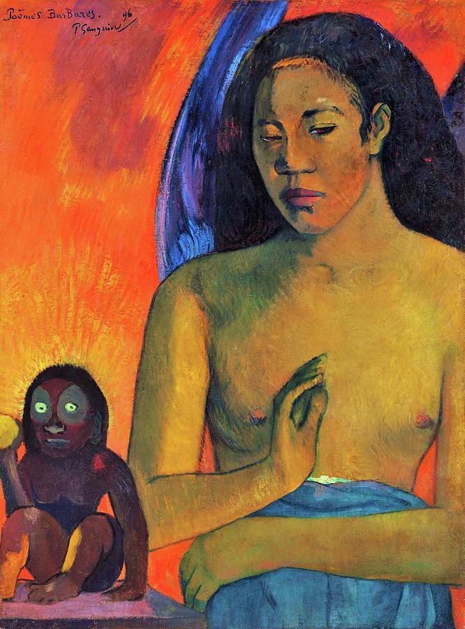 Tahiti Painting - Savage Poems - Digital Remastered Edition by Paul Gauguin
