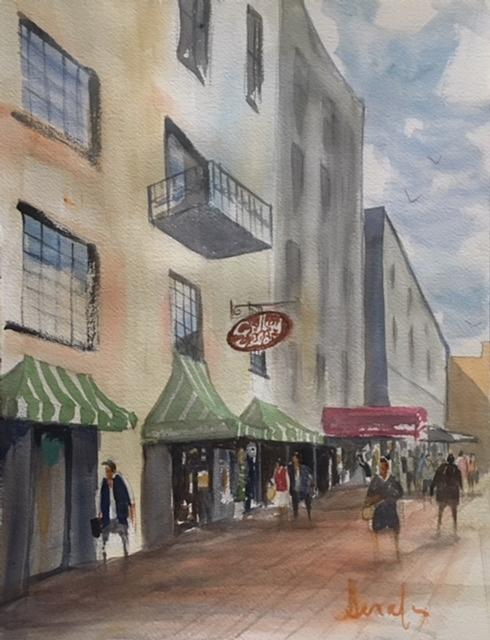 Savannah Painting - Savannah River Street by Scott Serafy