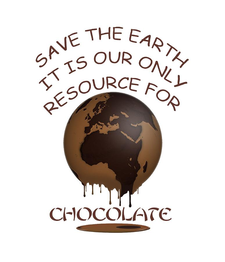 Save the Earth It is our Only Resource for Chocolate by Julia L Wright