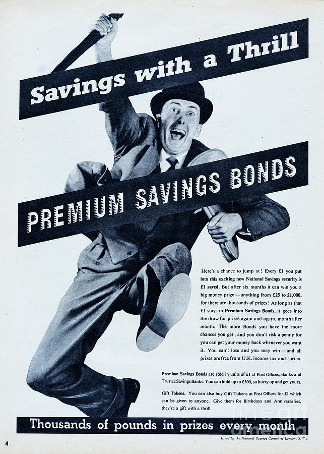 Savings With A Thrill Photograph by Picture Post