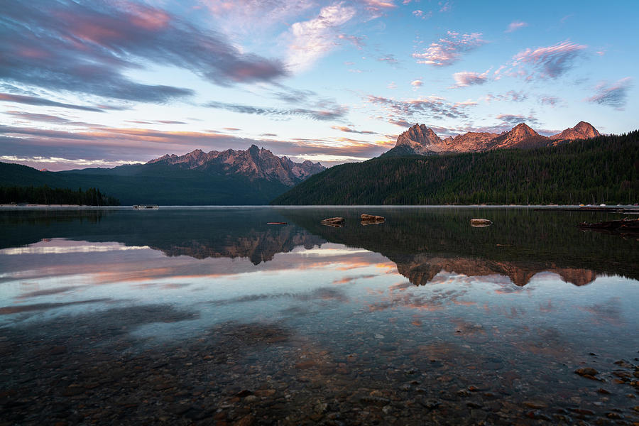 Sawtooth Mountain Range At Sunrise Photograph